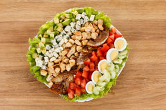 Traditional American Cobb Salad Royalty Free Stock Photo