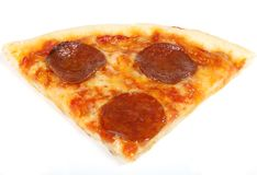 Traditional american/ italian cheese and pepperoni pizza Stock Photos