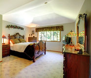 Traditional American master bedroom. Stock Photo