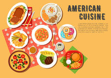 Traditional american picnic menu flat icon Stock Photography