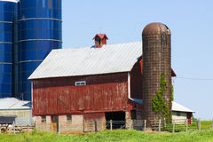 Traditional American Red Barn Royalty Free Stock Image