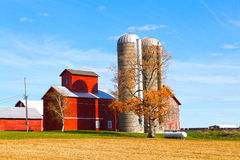 Traditional American Red Barn Royalty Free Stock Images