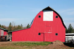 Traditional American Red Barn Stock Photo