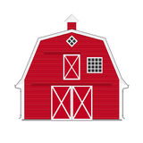 Traditional american red barn isolated Royalty Free Stock Photos