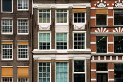 Traditional Amsterdam houses Royalty Free Stock Photo