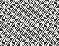Traditional ancient African fabric textile design, structure of repeating rhombuses Royalty Free Stock Photos