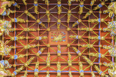 Traditional ancient chinese decorative ceiling Royalty Free Stock Photo