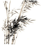 The traditional ancient Chinese hand painted bamboo Stock Photos