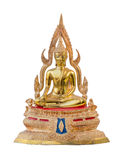 Traditional ancient gold Buddha statue isolate white background Stock Photos