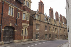 Traditional ancient houses in Cambridge Royalty Free Stock Images