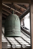 Traditional ancient Japanese bronze bell. Stock Images
