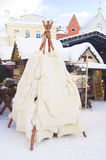 Traditional ancient winter clothing Stock Photography