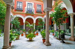 Traditional andalusian patio. In Sevilla, Spain Royalty Free Stock Photography