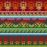 Traditional andean knitting patterns Stock Photography