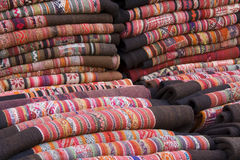 Traditional Andean Tapestry Royalty Free Stock Photography