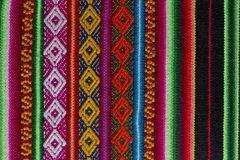Andean textile in alpaca and sheet wool Royalty Free Stock Photography