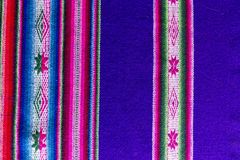 Andean textile in alpaca and sheet wool Stock Photos