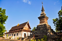 Traditional angle in Lao Temple 09. Temple in Luang Prabang Royal Palace Build for store prabang, Laos Stock Photo