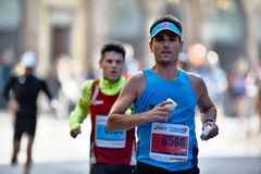 The traditional annual marathon in Florence. Is included in top twenty marathons. Florence, Italy - 17 May 2015: The traditional annual marathon in Florence. Is Royalty Free Stock Photos