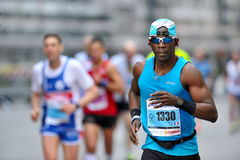 The traditional annual marathon in Florence. Florence, Italy - 17 May 2015: The traditional annual marathon in Florence. Is included in top twenty marathons. The Royalty Free Stock Photos