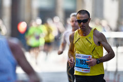 The traditional annual marathon in Florence. Florence, Italy - 17 May 2015: The traditional annual marathon in Florence. Is included in top twenty marathons. The Stock Image