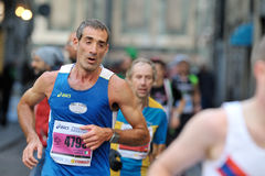 The traditional annual marathon in Florence. Florence, Italy - 17 May 2015: The traditional annual marathon in Florence. Is included in top twenty marathons. The Stock Photo