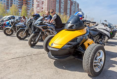 The traditional annual May Day gathering of bikers in Samara, Russia Royalty Free Stock Photography