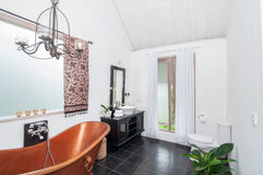 Traditional and antique bathroom Villa design Stock Images