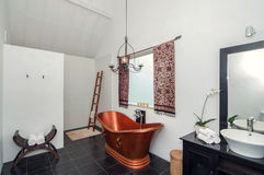 Traditional and antique bathroom Villa design Royalty Free Stock Photo