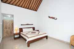 Traditional and Antique Bedroom villa in Bali Royalty Free Stock Photos