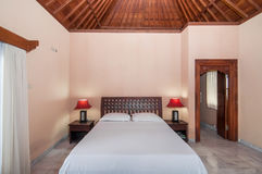 Traditional and Antique Bedroom villa in Bali Royalty Free Stock Photo