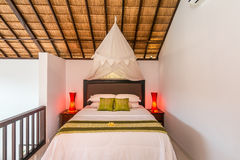 Traditional and Antique Bedroom villa in Bali Royalty Free Stock Photography