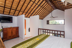 Traditional and Antique Bedroom villa in Bali Stock Photography