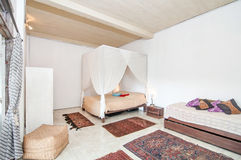 Traditional and Antique Bedroom villa in Bali Stock Image