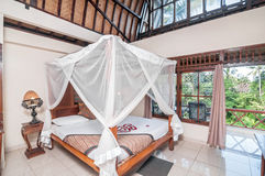 Traditional and antique bedroom Villa royalty free stock image