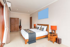 Traditional and Antique Bedroom villa in Lombok, Bali Royalty Free Stock Photography