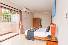 Traditional and Antique Bedroom villa in Lombok, Bali Royalty Free Stock Images