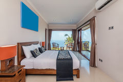Traditional and Antique Bedroom villa in Lombok, Bali Royalty Free Stock Photos