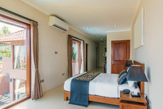 Traditional and Antique Bedroom villa in Lombok, Bali Stock Photography