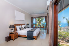 Traditional and Antique Bedroom villa in Lombok, Bali Royalty Free Stock Image