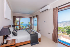Traditional and Antique Bedroom villa in Lombok, Bali Stock Photos