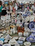 Traditional antique objects market in Sao Paulo Brazil Royalty Free Stock Photo