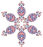 Traditional antique ottoman turkish tile illustrat. Ion design Stock Photography