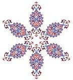 Traditional antique ottoman turkish tile illustrat Stock Photography