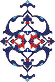 Traditional antique ottoman turkish tile illustrat. Ion design Stock Image