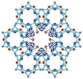 Traditional antique ottoman turkish tile illustrat. Ion design Royalty Free Stock Photo