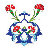 Traditional antique ottoman turkish tile illustrat Royalty Free Stock Photo