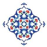 Traditional antique ottoman turkish tile illustrat Royalty Free Stock Photo
