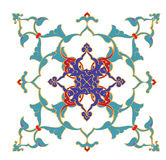 Traditional antique ottoman turkish tile illustrat Royalty Free Stock Photography