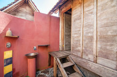 Traditional and Antique outdoor toilet Private Villa Stock Photography